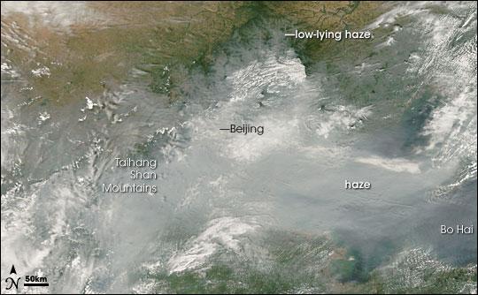 Haze over Beijing