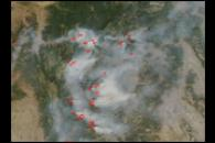 Fires in Montana and Idaho