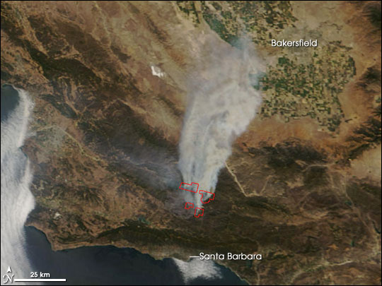 Zaca Wildfire Southern California