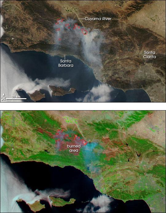 Zaca Wildfire, Southern California