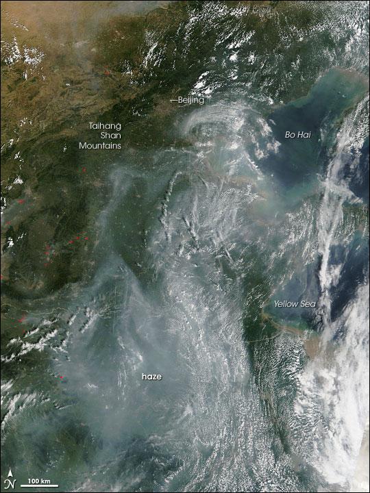 Haze in Eastern China