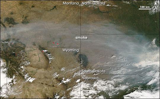 Smoke over the Dakotas
