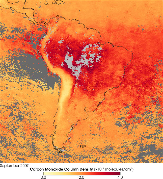 Fires and Thick Smoke over South America - related image preview
