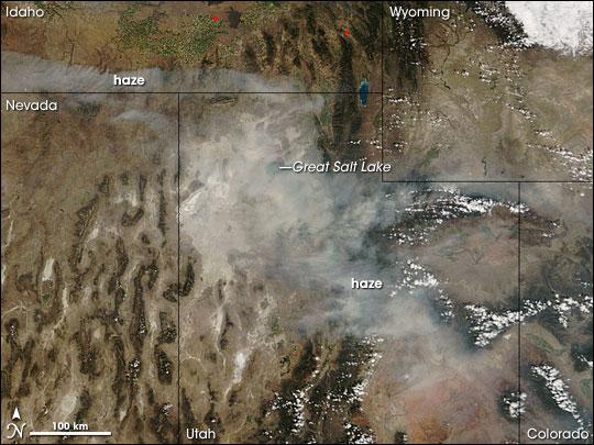 Haze over Utah