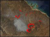 Bushfires in Northern Territory, Australia