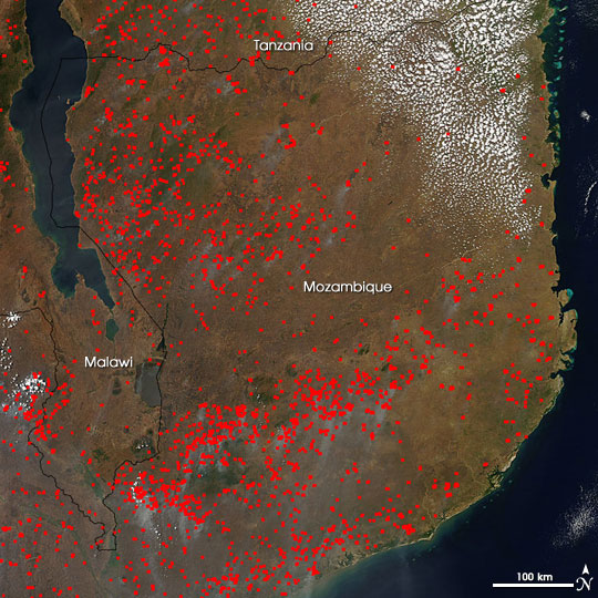 Fires in Southeast Africa