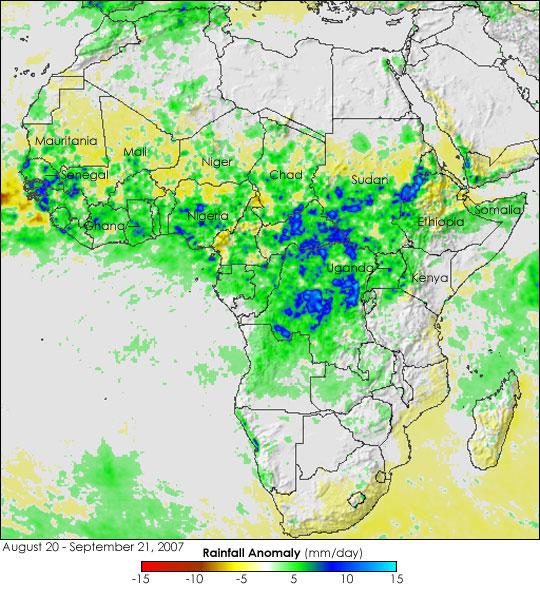 Seasonal Rain Floods the Sahel