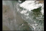 Haze over India