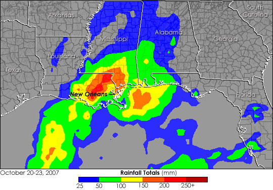Rain Floods New Orleans