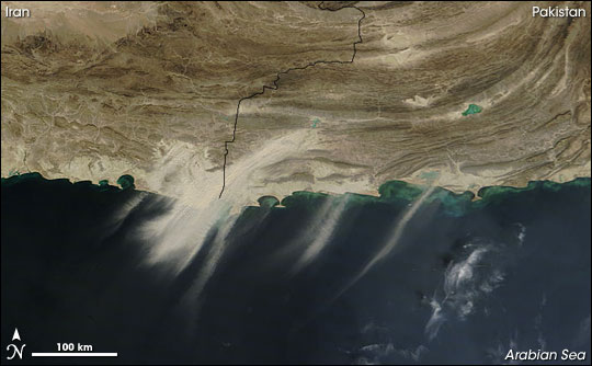 Dust off Iran and Pakistan