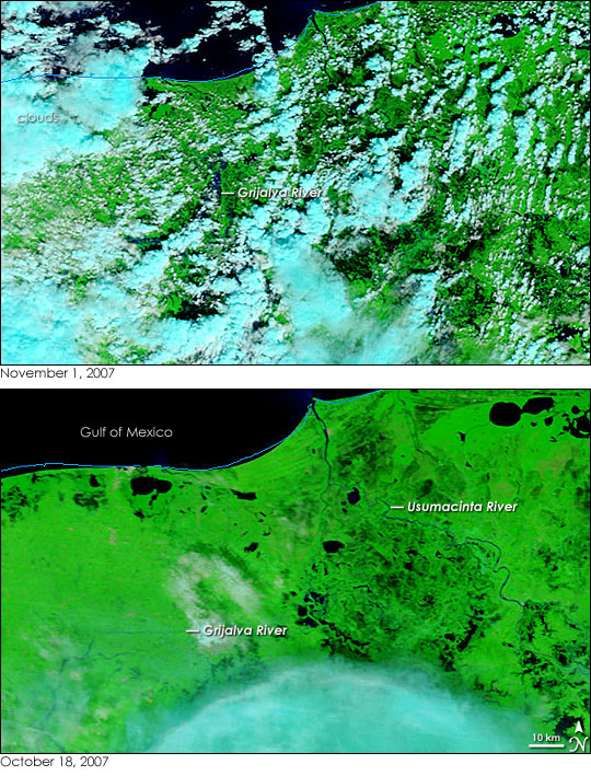 Floods in Southeastern Mexico
