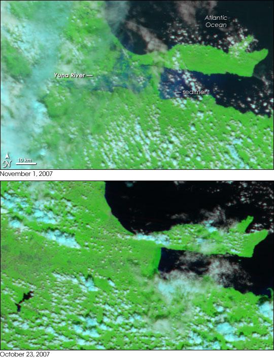 Tropical Storm Noel Floods the Dominican Republic