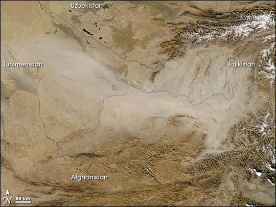 Dust Storm in Southwest Asia