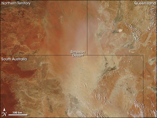Simpson Desert Dust Storm Natural Hazards