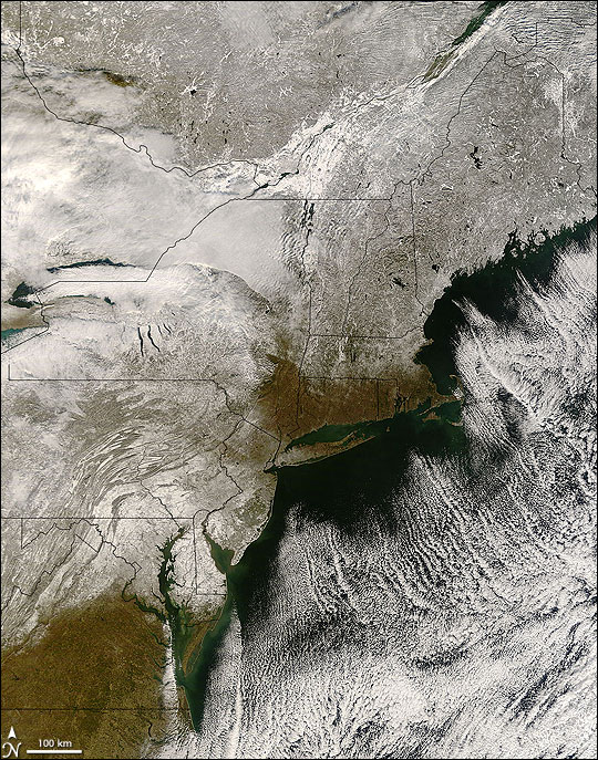 First Snow in US Northeast