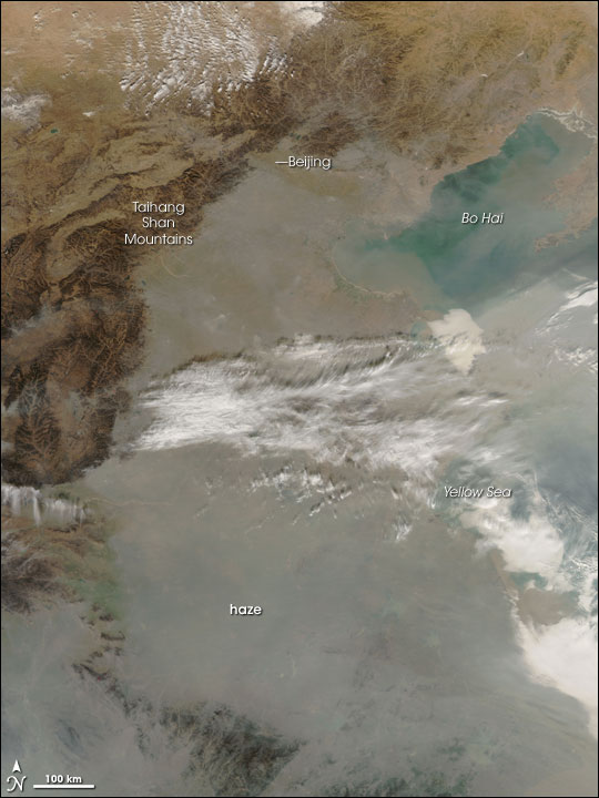Haze in Eastern China