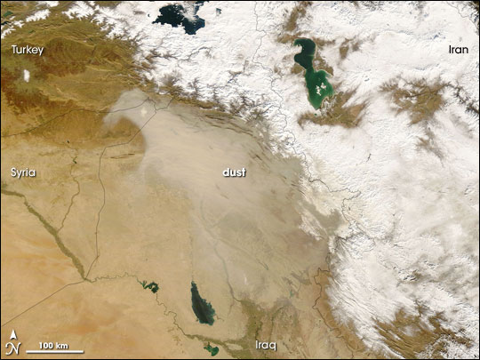 Dust Storm over Turkey, Syria, and Iraq