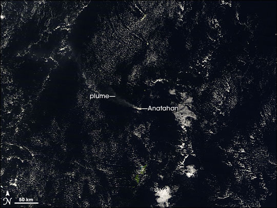Plume from Anatahan