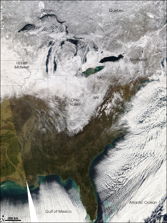New Year's Snowstorm in United States