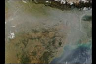 Haze over India, Bangladesh, and the Bay of Bengal