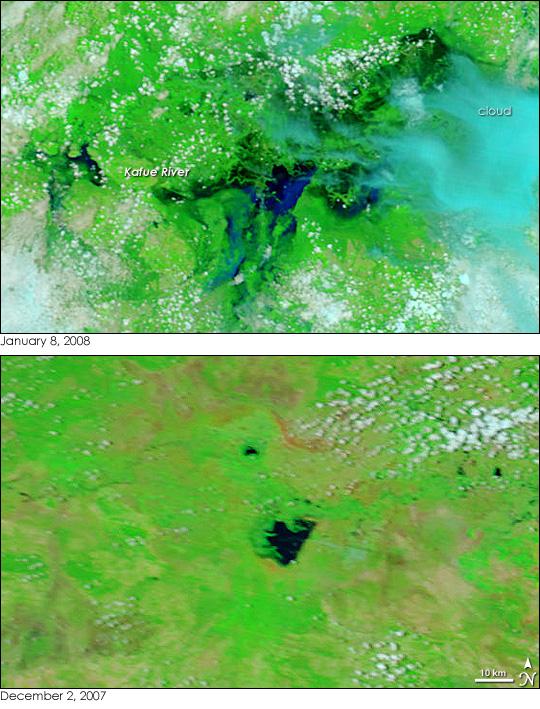Intense Seasonal Floods in Southern Africa