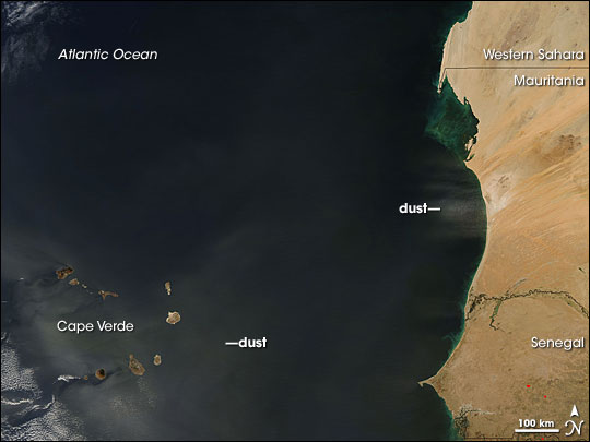 Dust off Africa, over Cape Verde