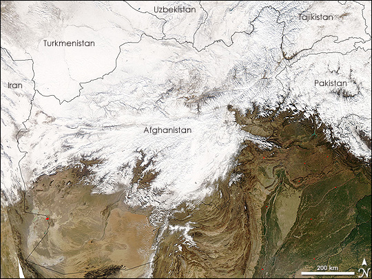 Extreme Cold and Snow in Central Asia
