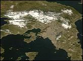 Snow in Greece