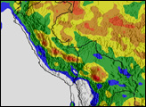 Heavy Rain Floods South America