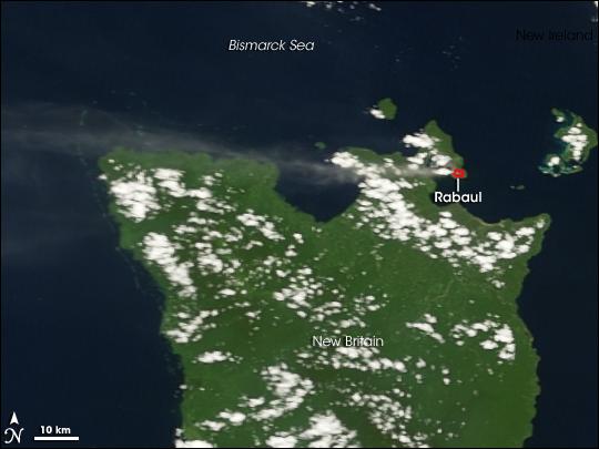 Activity on Rabaul Volcano, New Britian