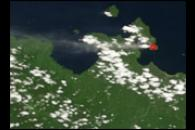 Activity on Rabaul Volcano, New Britian