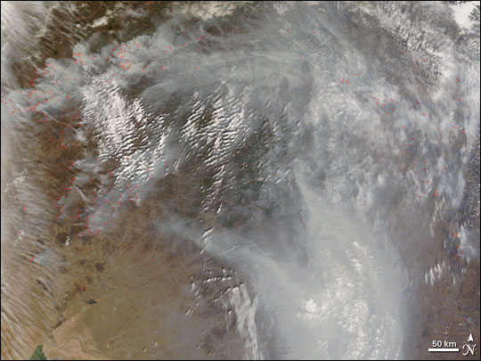 Fires in Southern Russia