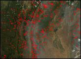 Fires in Myanmar (Burma)