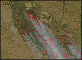 Fires Spread Smoke over Buenos Aires