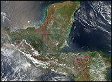 Fires in Mexico and Northern Central America