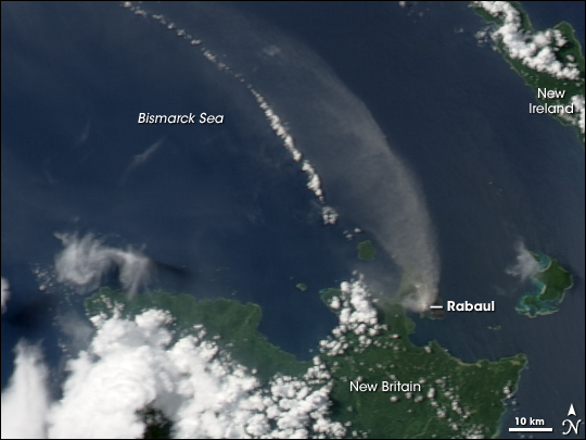 Activity on Rabaul Volcano, New Britain