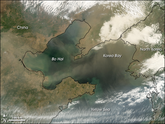Dust over the Yellow Sea