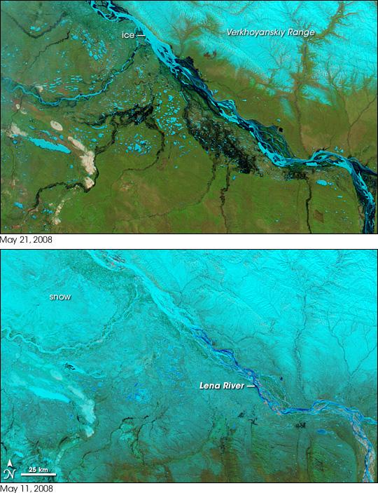 Spring Floods in Siberia