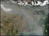 Thick Haze Over Northern India