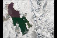 Blanket of Snow Covers Salt Lake City