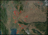 Fires in Thailand and Cambodia