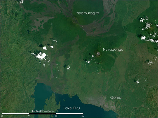 Nyiragongo Volcano before the Eruption