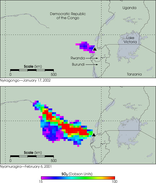 Sulfur Dioxide Emissions from Congo Volcanoes