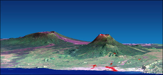 Nyiragongo lava flows