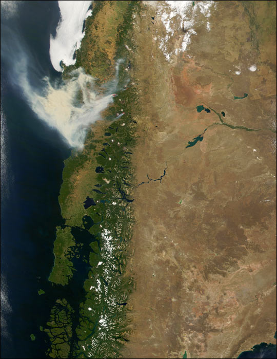 Fires in Chile