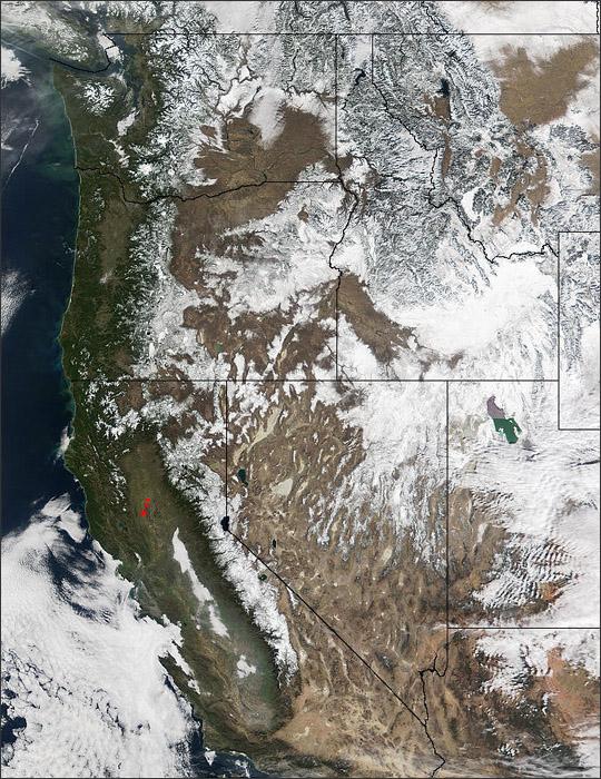 Wintertime in the Western U.S.