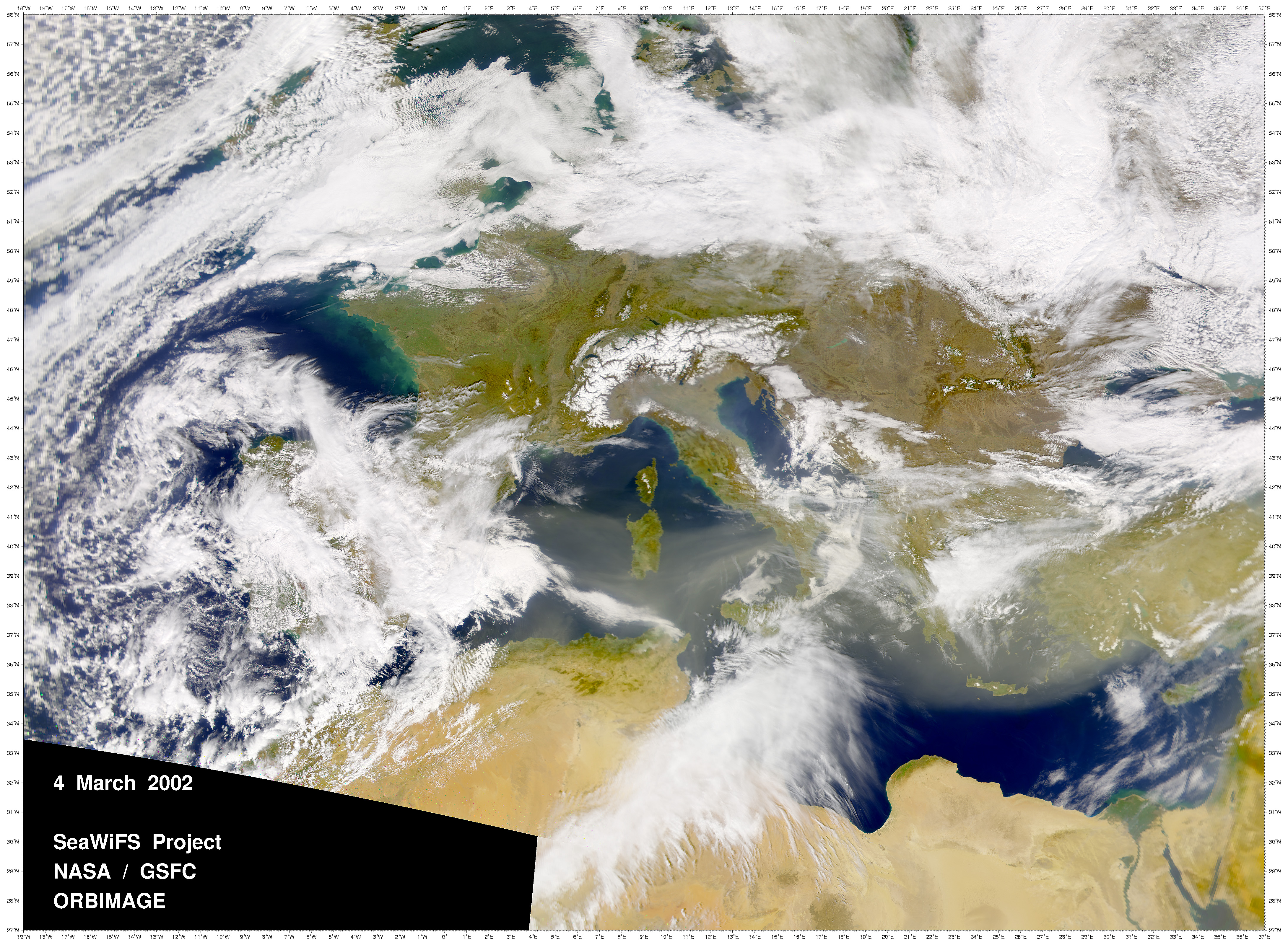 Early Spring Dust over the Mediterranean Sea - related image preview