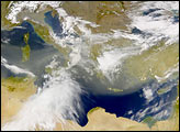 Early Spring Dust over the Mediterranean Sea - selected image