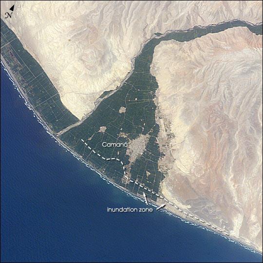Tsunami Vulnerability in Camana, Peru