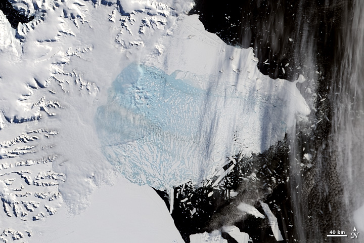 Breakup of the Larsen Ice Shelf, Antarctica